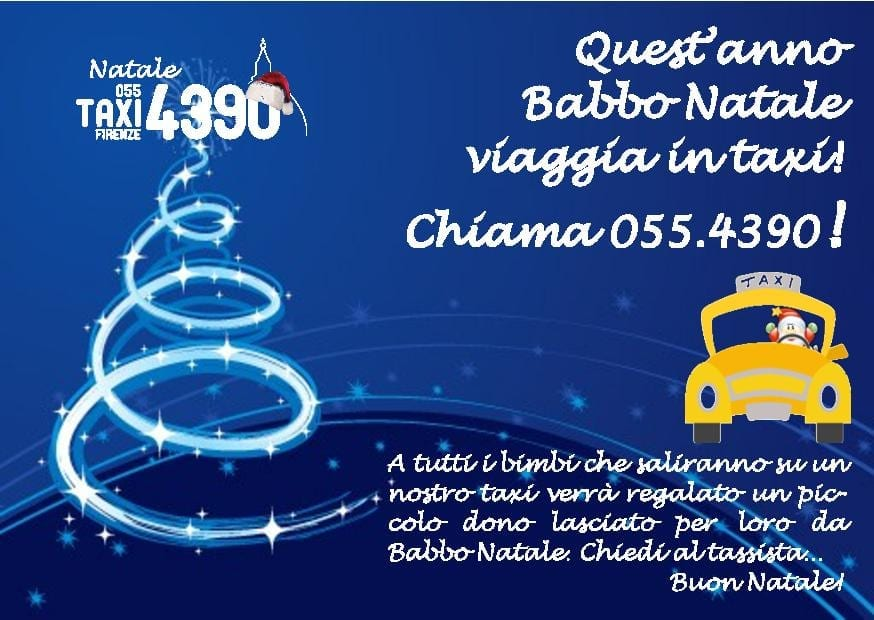 Photo of FIRENZE: Babbo Natale viaggia in taxi!