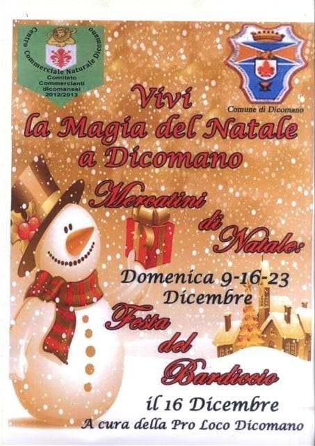 Photo of DICOMANO (FI): arriva il Natale