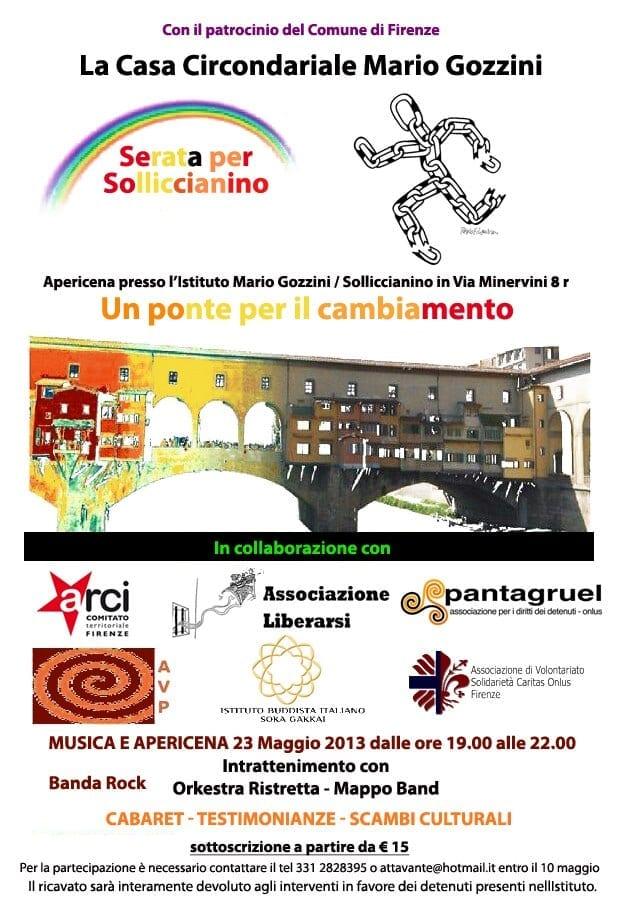 """Photo of FIRENZE – il 23 maggio apericena di solidarietà, musica e cabaret al """"Solliccianino"""""""