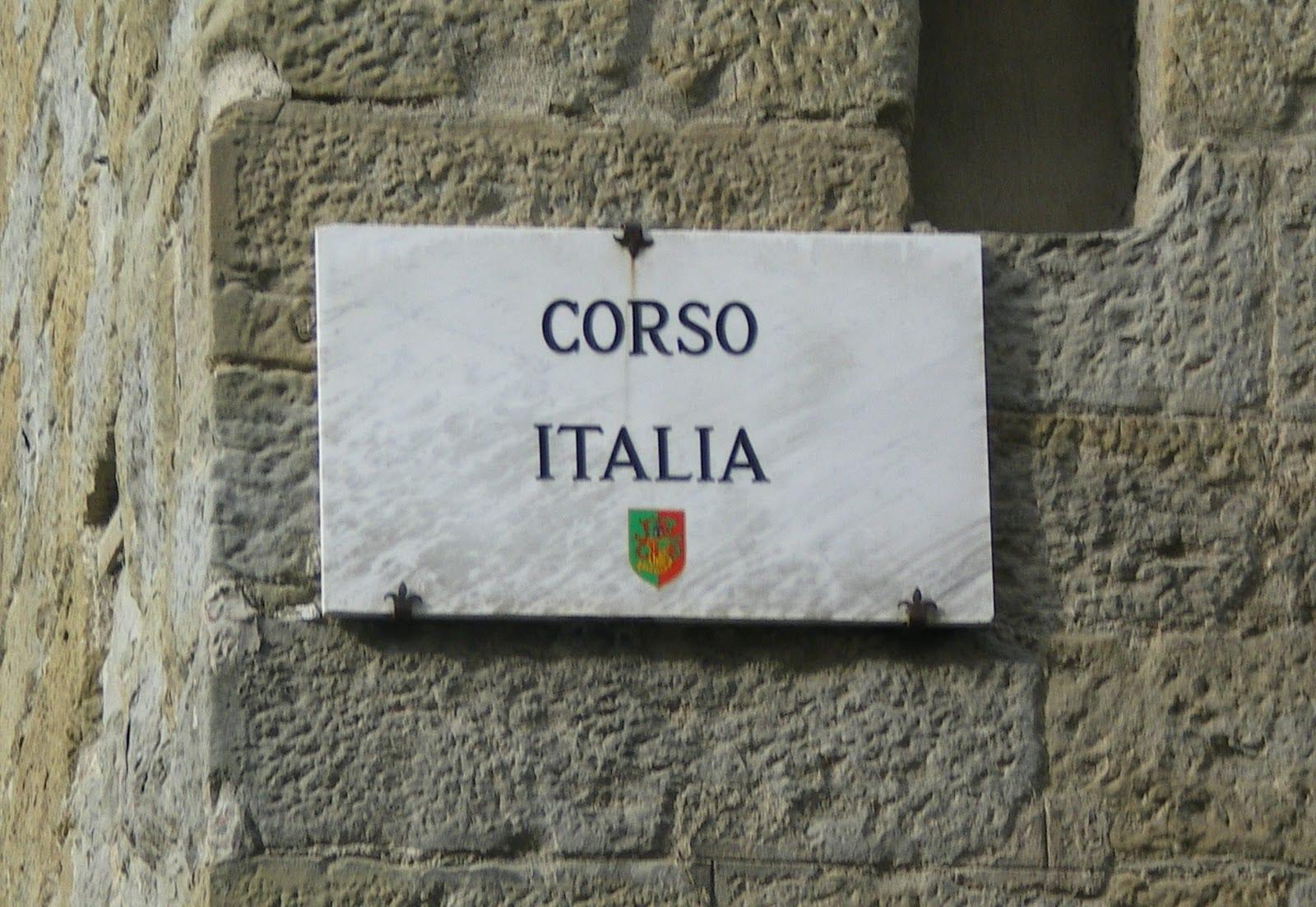 Targa Corso Italia, Arezzo