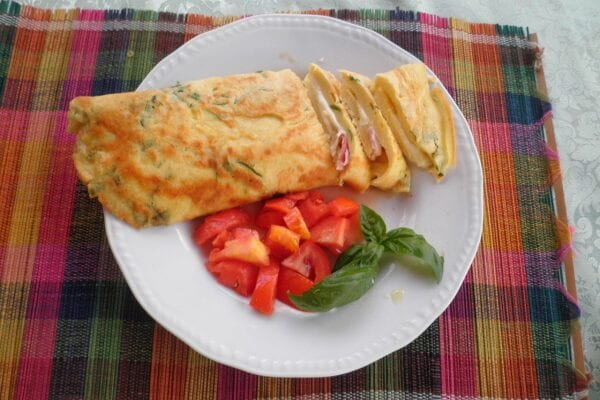 omelette basilico