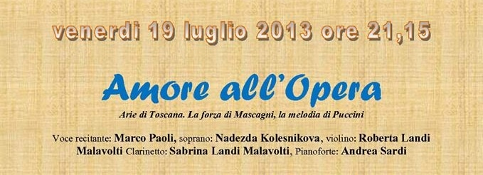 Photo of BORGO S.LORENZO (FI) – Marco Paoli e la Camerata de' Bardi in 'Amore all'Opera'