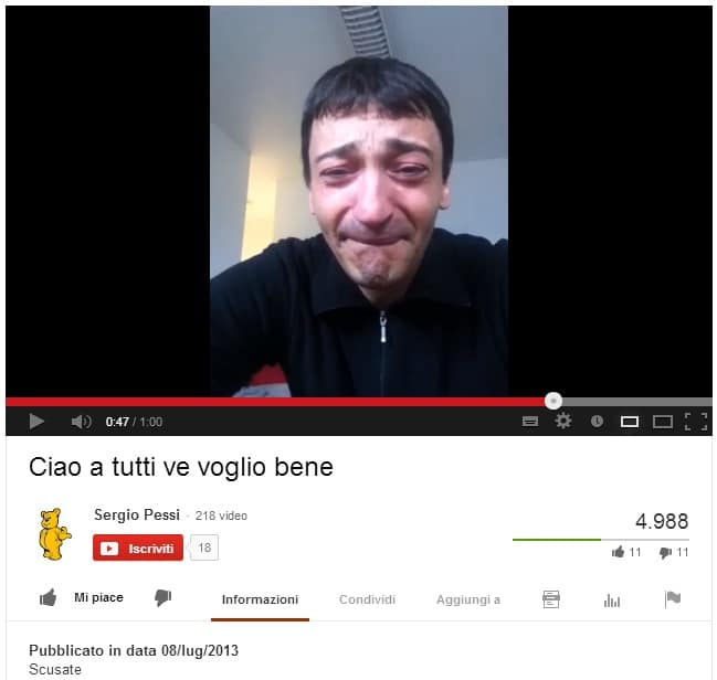 Photo of LIVORNO – Posta video d'addio su Youtube. Sergio Pessi, suicida per amore