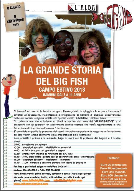 Photo of PISA – Campi estivi per bambini 'L'Alba del Big Fish'