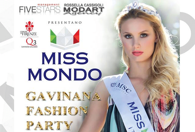 Photo of Miss Mondo – Gavinana Fashion Party