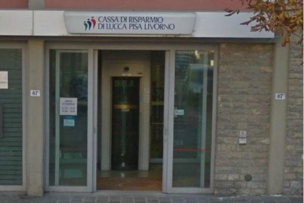 La banca rapinata a Certaldo