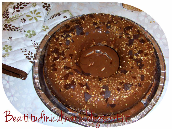 Photo of Ciambella marmorizzata con glassa alla nocciola
