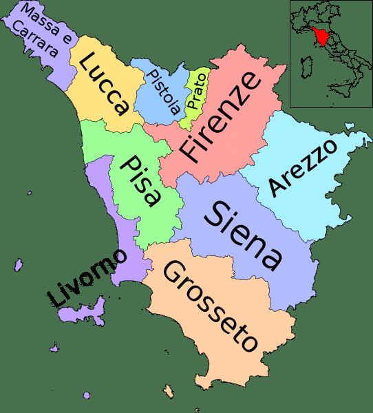 Province Toscana