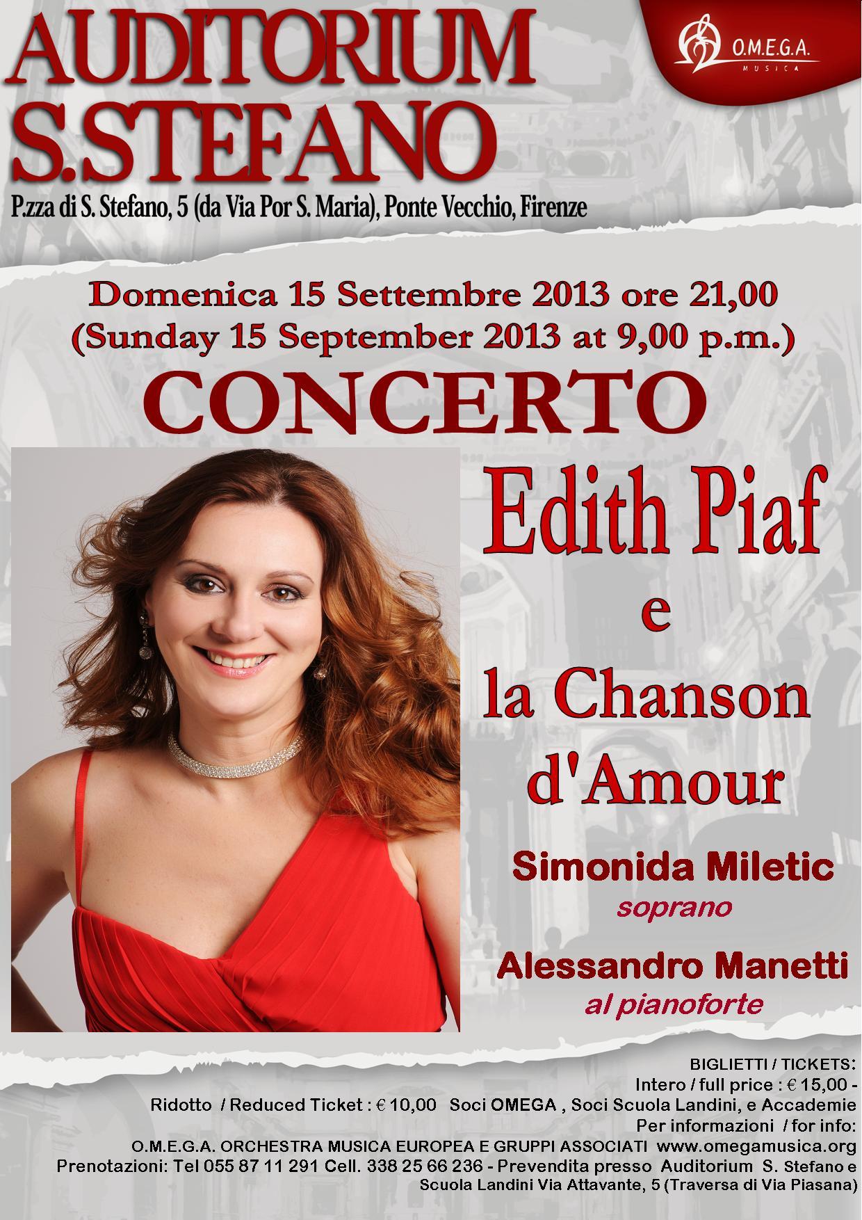 Edith Piaf e LA CHANSON D'AMOUR