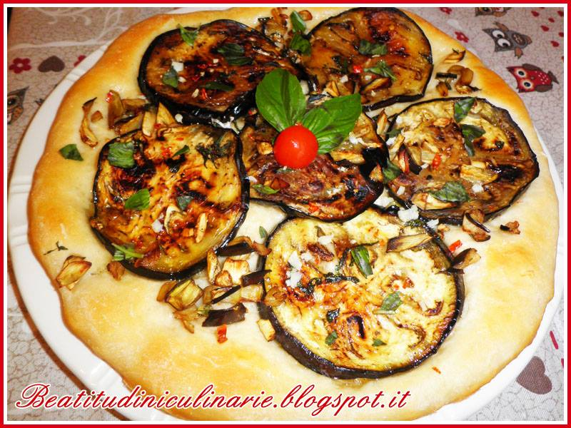 Photo of Pizza bianca alle melanzane