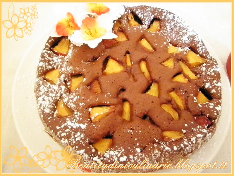 Photo of Torta al cioccolato e pesche