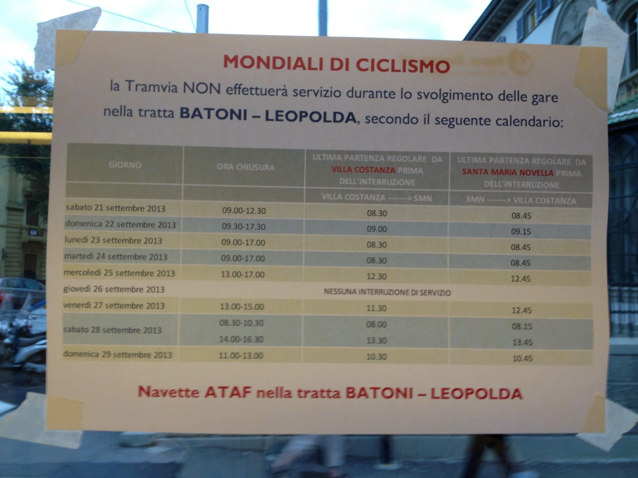 Photo of MONDIALI CICLISMO – Quadro riassuntivo orari tramvia