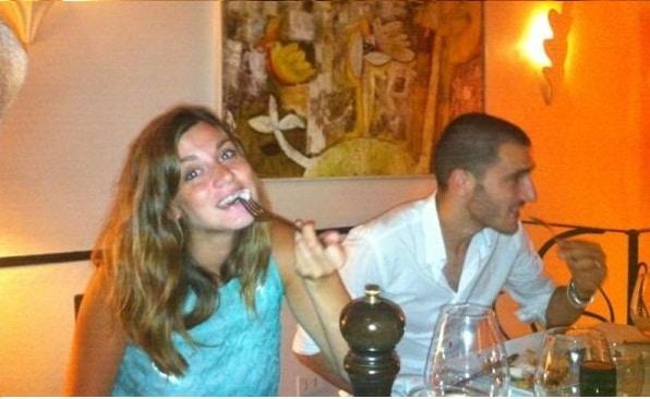 Martina Maccari e Leonardo Bonucci (foto Twitter)