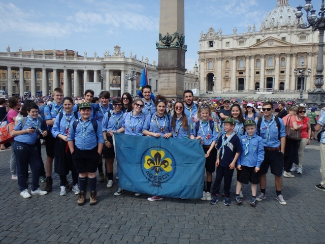 Photo of Il Gruppo Scout AGESCI Valtiberina 1 ad Assisi per la visita di Papa Francesco