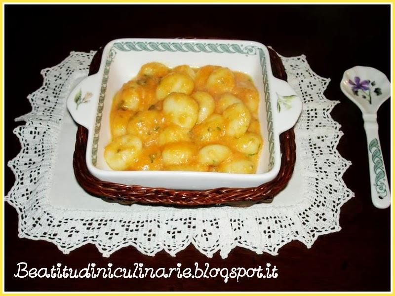 Photo of Gnocchi in crema di zucca gialla