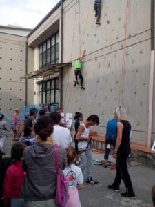 parete arrampicata sportiva