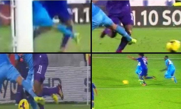 rigore Cuadrado Fiorentina-Napoli