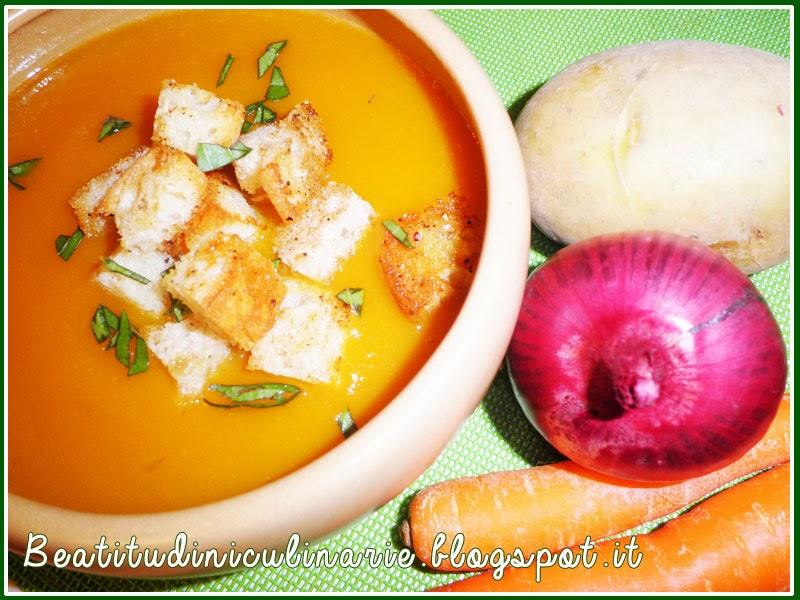 zuppa di patate e carote