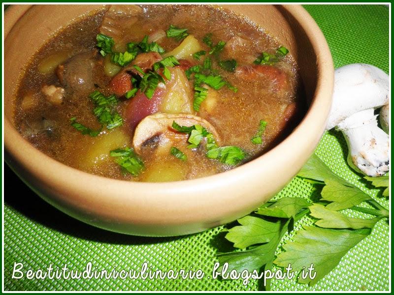 zuppa porcini patate