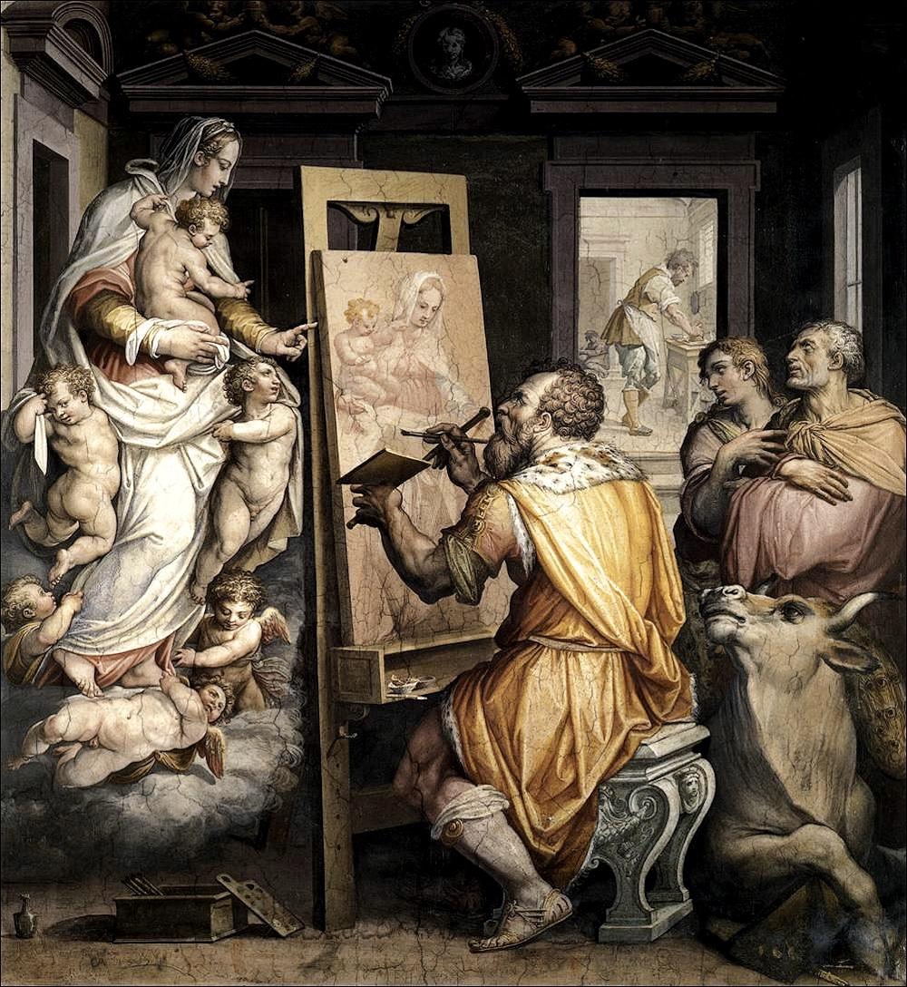 Giorgio Vasari - San luca dipinge la vergine