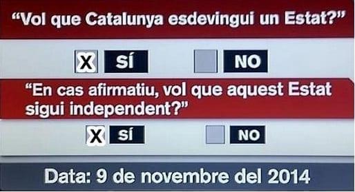 Photo of CATALOGNA – Voto per l'indipendenza il 9 novembre 2014
