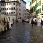 Sciopero mercato di San Lorenzo a Firenze
