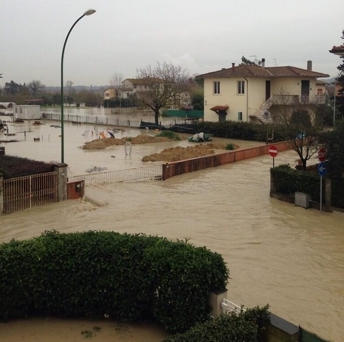 Tracima l'Era a Ponsacco (foto tratta da Twitter - Il Mori @IlmoriMori)