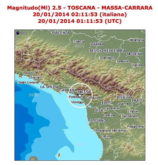 terremoto Montignoso