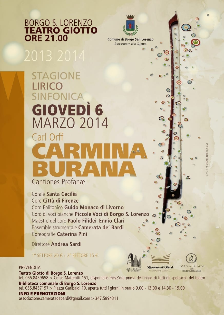 Photo of BORGO SAN LORENZO – Carmina Burana di Carl Orff