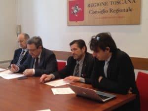 Da sinistra Del Carlo (Udc), Magnolfi (Ncd), Gambetta Vianna (PT-Ncd) e Donzelli (FdI)