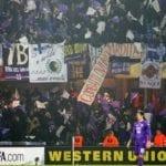 Esbjerg-Fiorentina, la foto della curva (tratta da Twitter di Claudio Giovannini)