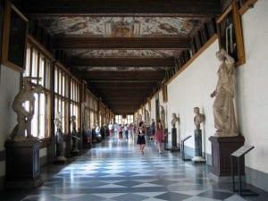 Gli Uffizi all'interno (foto Wikipedia)