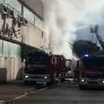 Incendio a Brozzi (Foto di Simone Gianfaldoni di Firenze Più Sicura)