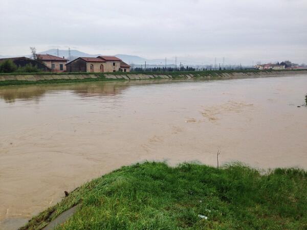 Photo of MALTEMPO – L'Ombrone pistoiese è in lento calo