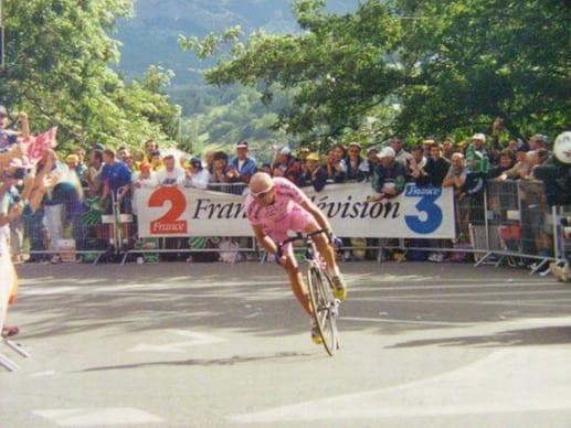 Marco Pantani a Briançon (Tour de France 2000)
