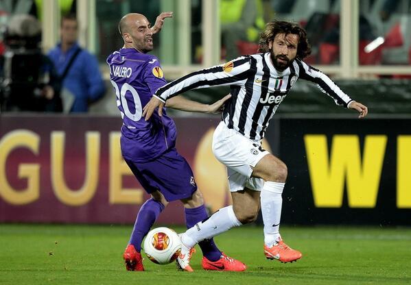 Fiorentina-Juventus di Europa League, Borja Valero e Pirlo