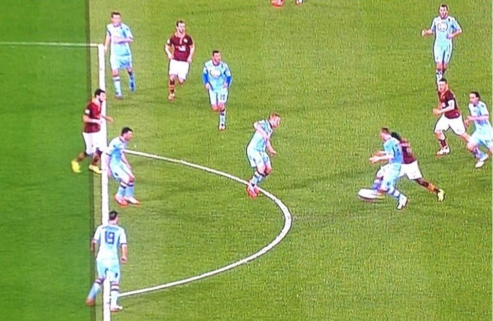 Il gol di Destro segnato in fuorigioco contro il Torino