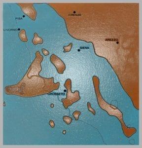 La Toscana, milioni di anni fa (foto gruppo Facebook)
