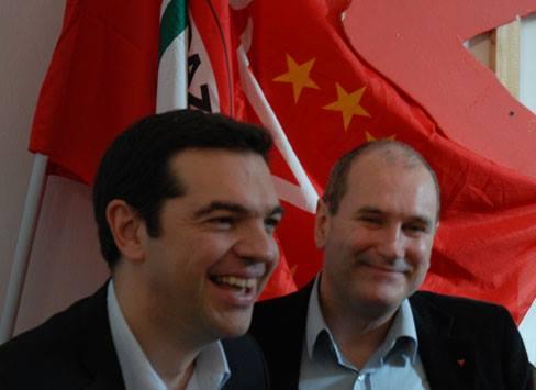 Paolo Ferrero (a destra) insieme ad Alexis Tsipras