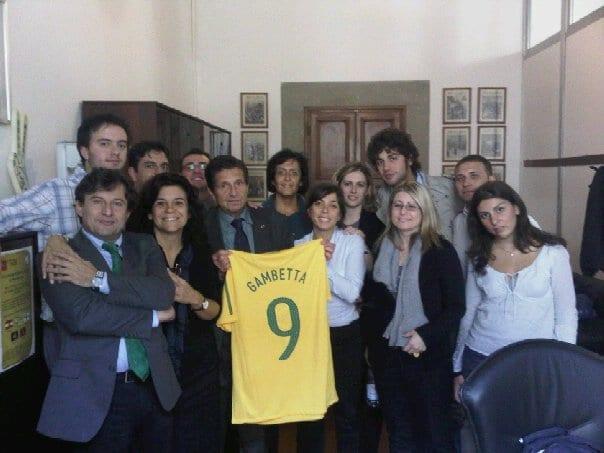Antonio Gambetta Vianna con la maglia del Brasile