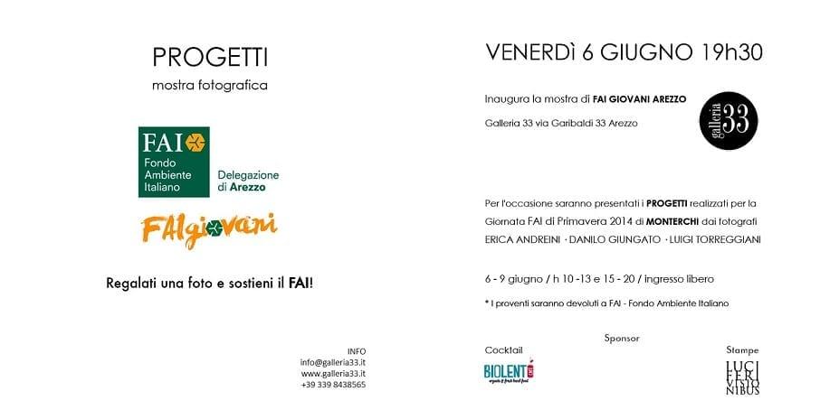 Photo of INAUGURAZIONE 6 giugno – FAI Giovani Arezzo (mostra FOTOgrafica PROGETTI / Galleria 33)