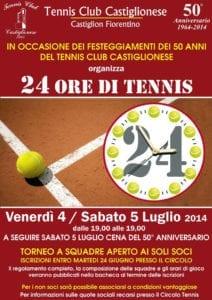 Tc Castiglionese - Locandina 24 ore di tennis