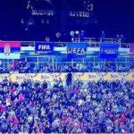 Serbia-Albania, la bandiera albanese ufficiale della partita viene nascosta