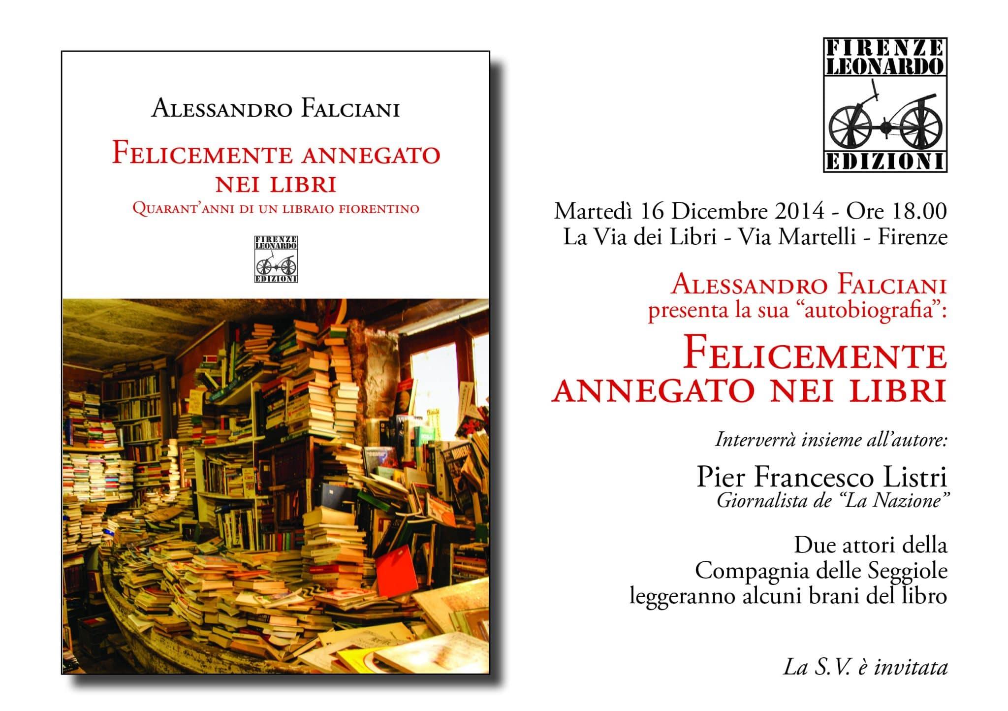 Photo of FIRENZE – Tour di presentazione di 'Felicemente annegato nei libri', il romanzo di Alessandro Falciani