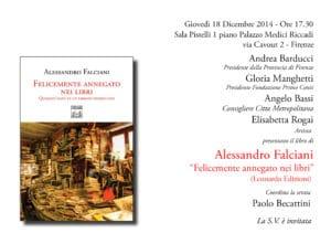 Alessandro Falciani 'Felicemente annegato nei libri'