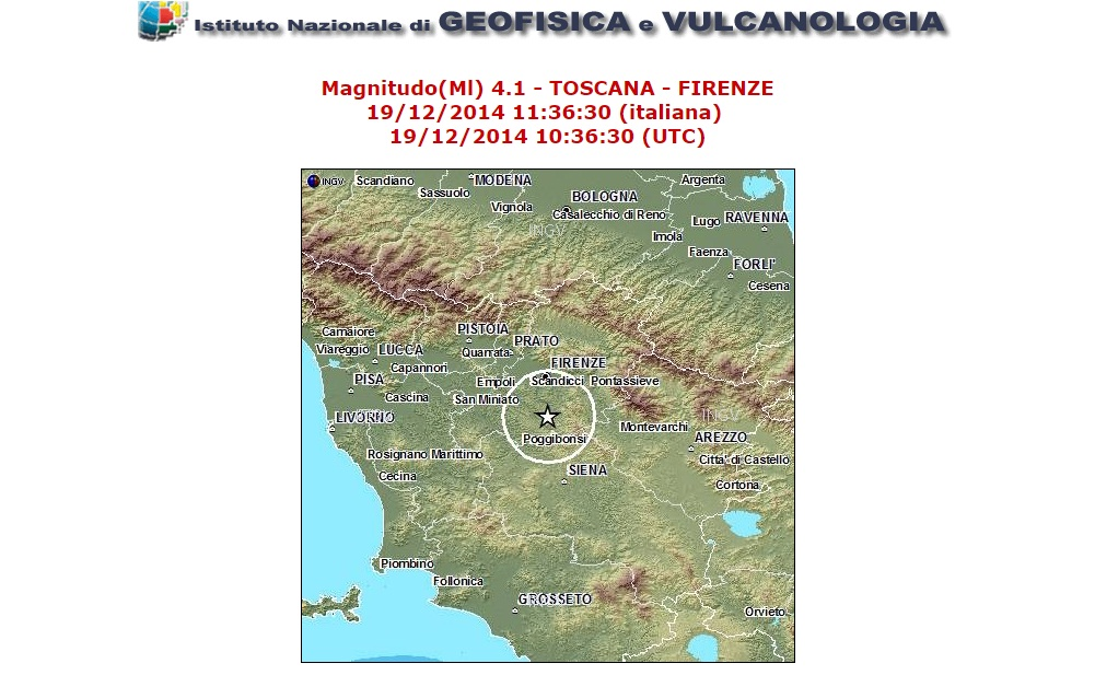 Photo of TERREMOTO – Scosse di 3.8 e 4.1 scala Richter nel Chianti