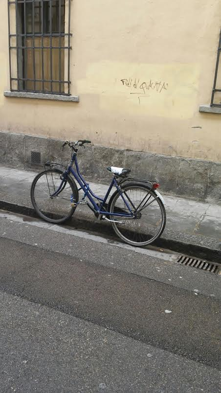bicicletta dellaggressione via dellalbero