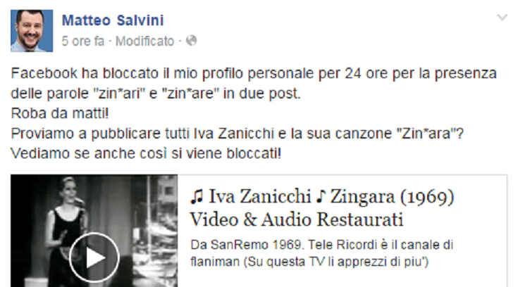 Photo of Salvini sospeso su Facebook per la parola 'zingari'? Bufala o no?
