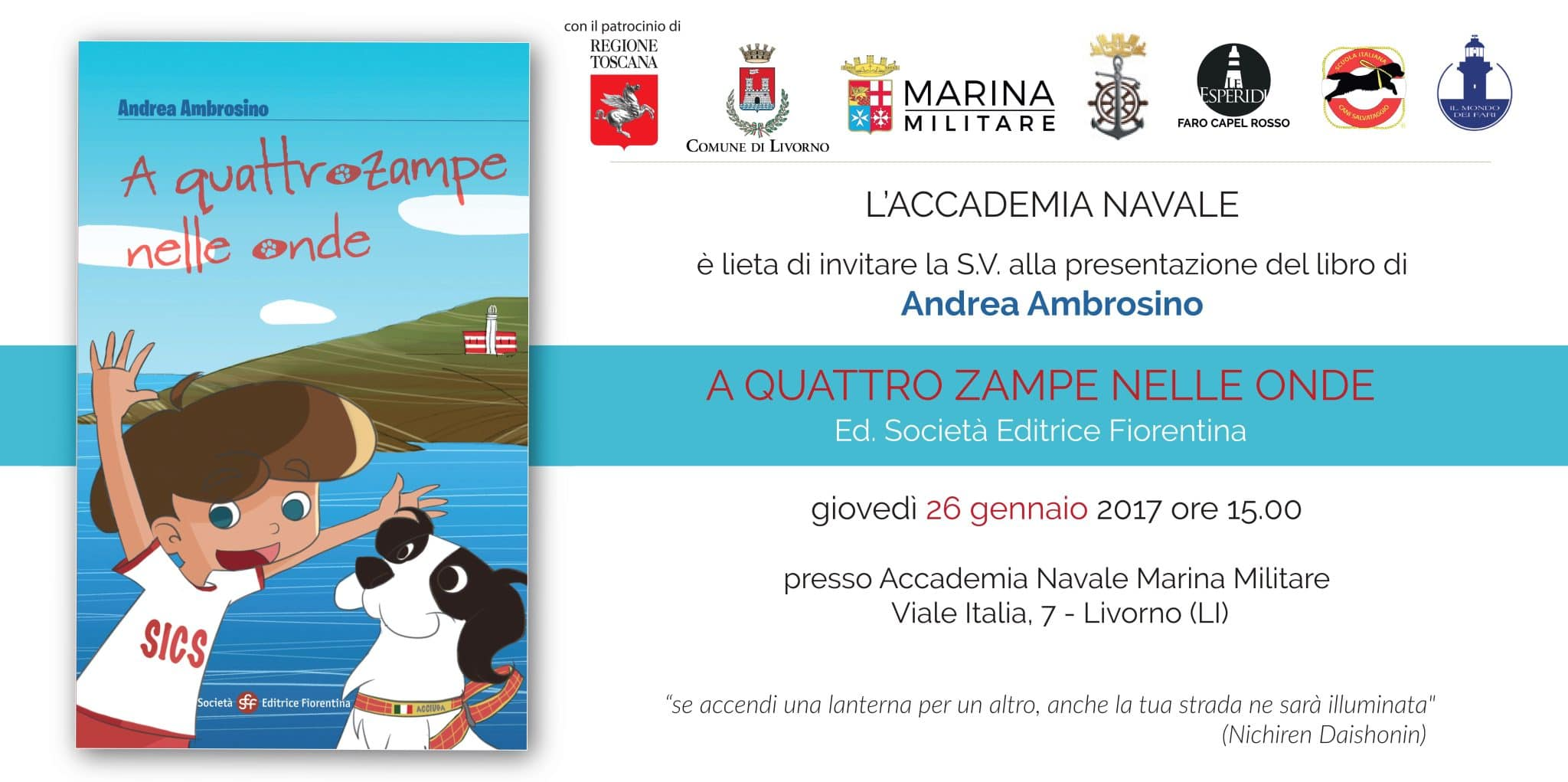 Photo of Accademia Navale Militare di Livorno e SICS presentano il libro 'A quattro zampe nelle onde'