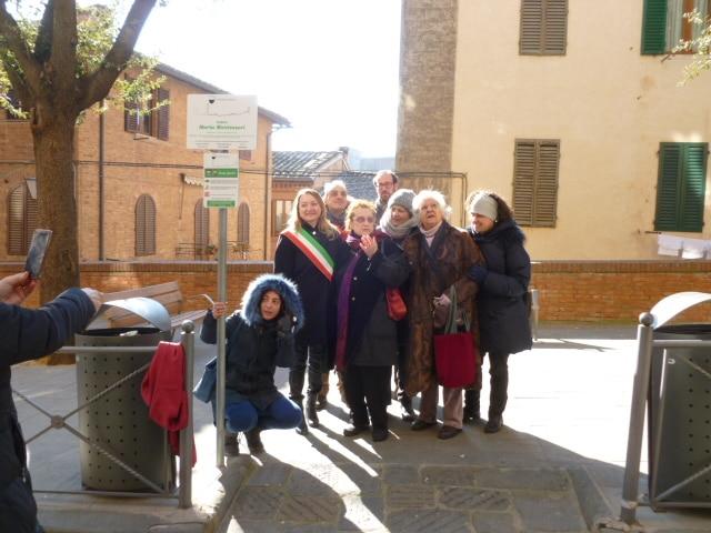 Photo of SIENA – Intitolata a Maria Montessori l'area verde nel Vicolo della Fortuna